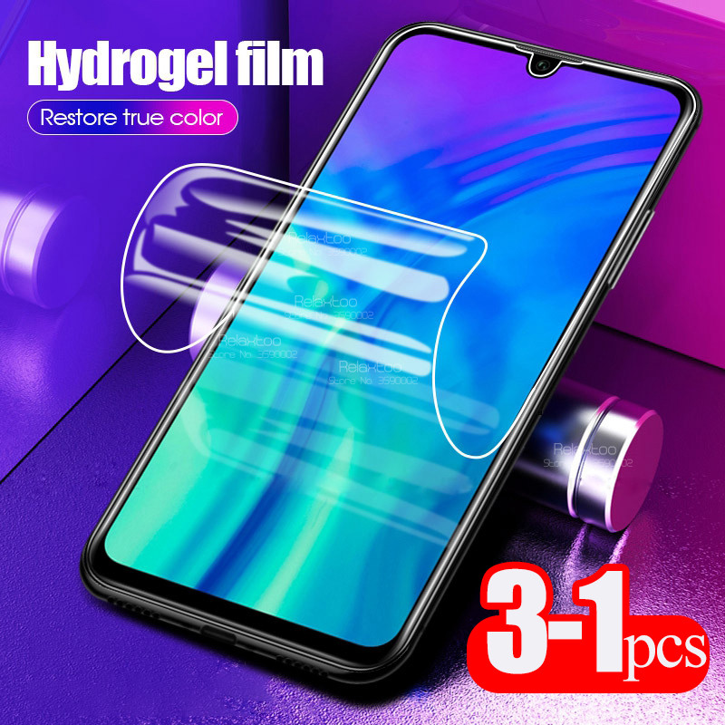 3pcs 100D Hydrogel Soft Film For Huawei Honor 10 Lite 10 Light 10i Honer 8x 8s 8a 8c 9x 20s 20 Pro Screen Protector , Not Glass