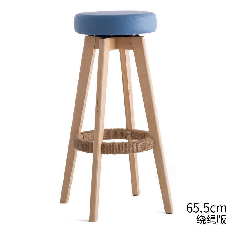 Jane Domain Bar Stool Bar Stool High Stool Home Solid Wood Bar Stool Modern Minimalist Rotating Creative European Chair