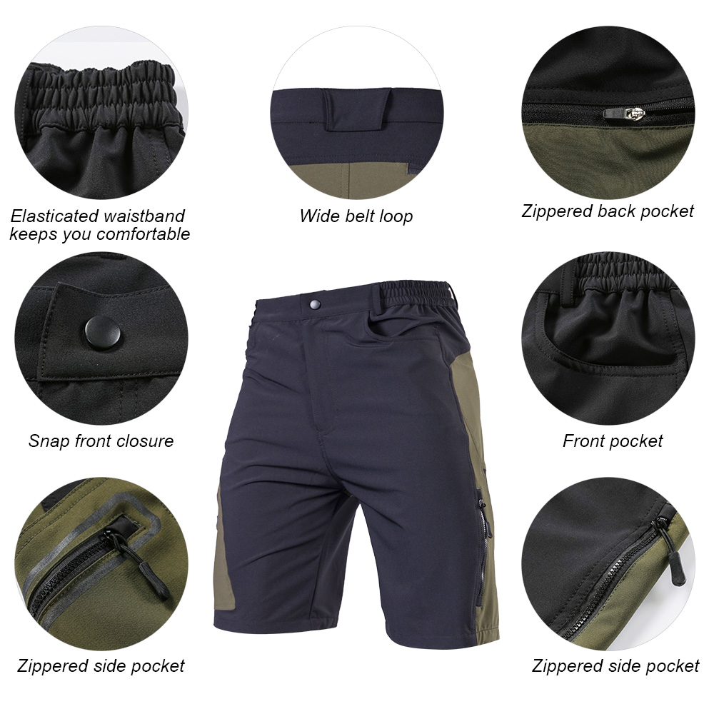 KS6009M Men's Summer Cycling Shorts Off-road Downhill MTB Mountain Bike Bicycle Ridding Clothing Outdoor Sportswear