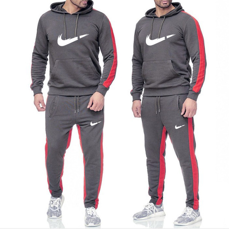 Hot 2019 Brand Tracksuit Men Thermal Underwear Men Sportswear Sets Fleece Thick Hoodie+Pants Sporting Suit Malechandal Hombre