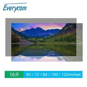Image 1 - Everycom Màn Hình Máy Chiếu Phản Quang Tăng Cường Độ Sáng 60 100 120Inch Vải Vải Màn Chiếu Di Động Cho Tất Cả Các Máy Chiếu