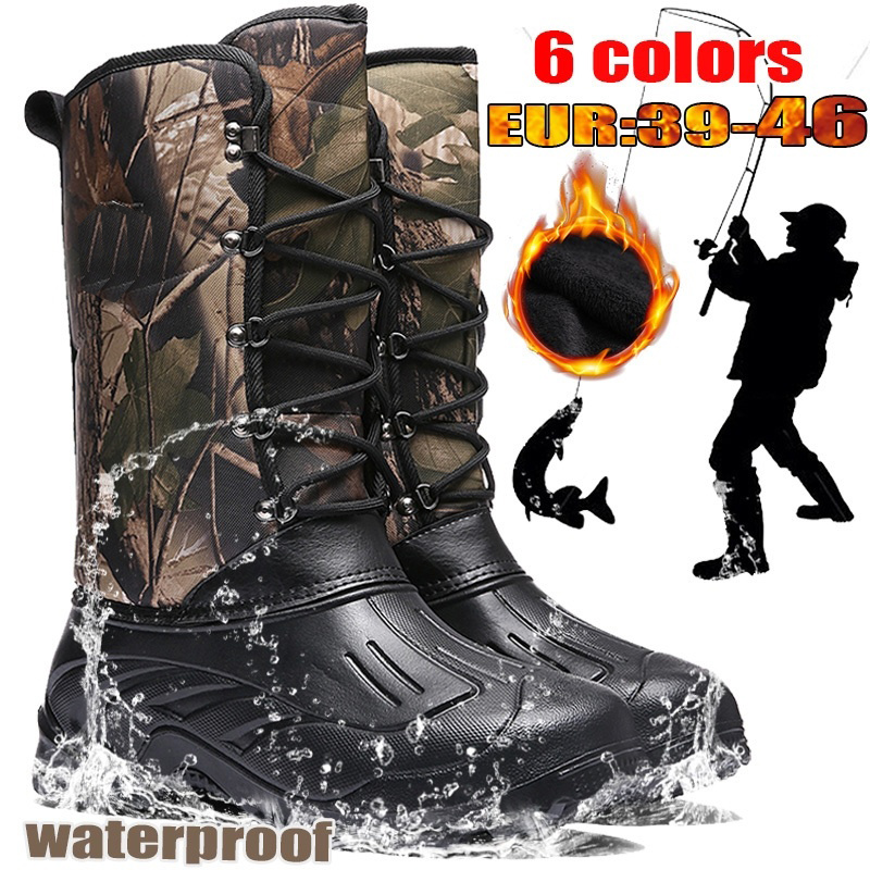 Hiking Boots Men Outdoor Camping Tactics Shoes Hunting Boots Hiking Men Climbing Non-Slip Waterproof Thermal Shoes Size 39-46