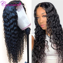 Closure Wig Lace-Frontal Human-Hair Deep-Wave Bleached Knots Pre-Plucked Remy-Lace 180-%