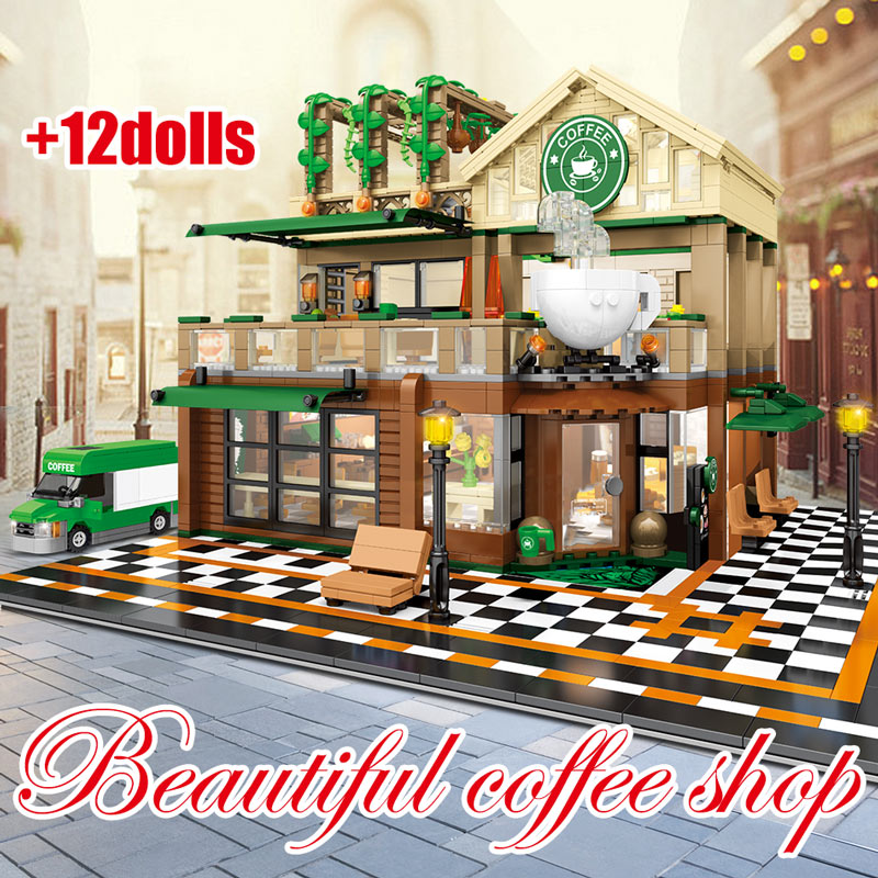 SEMBO Cafe Coffee Shop Model Building Blocks
