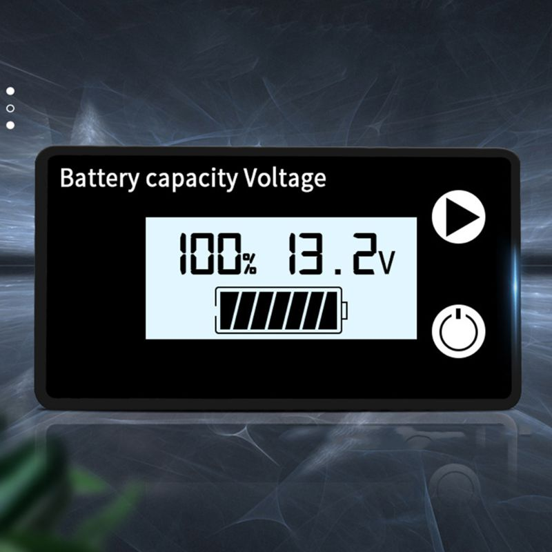 Battery Capacity Indicator DC 8V-100V Lead Acid Lithium LiFePO4 Car Motorcycle Voltmeter Voltage Gauge 12V 24V 48V 72V
