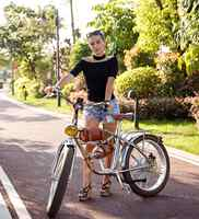 Bicicleta Eléctrica 500W bicicleta gruesa eléctrica playa Retro bicicleta Cruiser bicicleta eléctrica Retro bicicleta eléctrica clásica eléctrica
