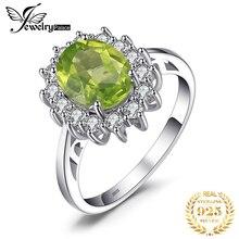 JewPalace Princess Diana ของแท้ Peridot แหวน 925 เงินสเตอร์ลิงแหวนแหวนหมั้นแหวนเงิน 925 เครื่องประดับอัญมณี