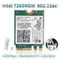 Двухдиапазонный беспроводной-AC 867 Мбит/с для Intel 7265 7265NGW 802.11ac 2x2 WiFi + Bluetooth BT 4 0 NGFF M.2 Wifi сетевая карта ноутбука