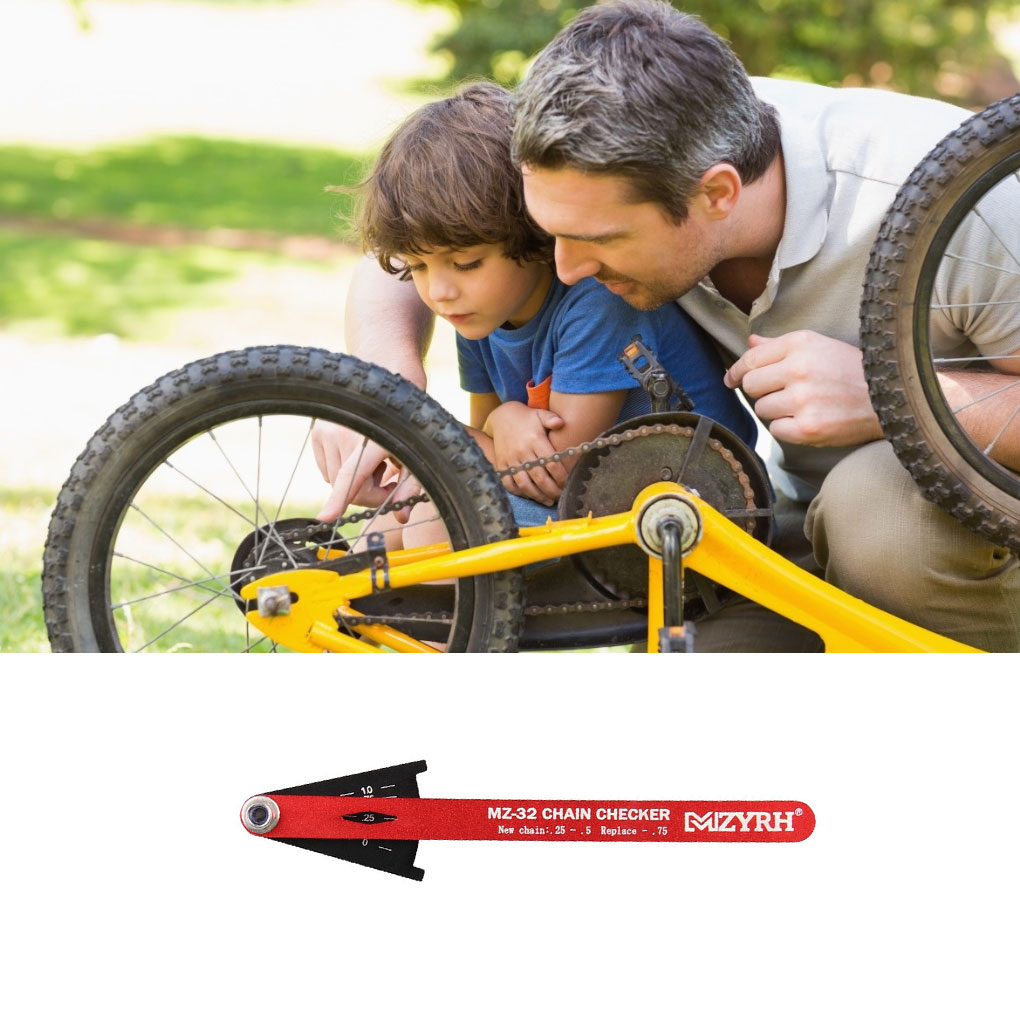 Bike Current Meter Bicycle Bike Chain Checker Wear Indicator Measuring Instrument Gauge Repair Checker Road Bike Accessories