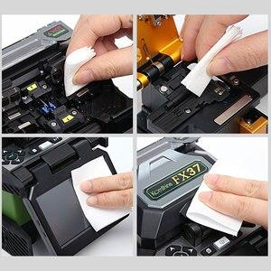 Image 4 - ONTi 280pcs/box Fiber Cleaning Wipes Platform Dustfree Paper Fiber Optic Low lint Wipes Optical Fiber Clean Paper FTTH Tools