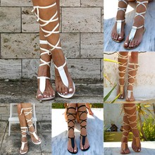 Women Sandals Summer Open-Toe Strap Roman Wind Straps Toe Flat Sandals