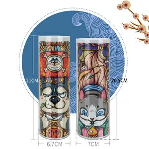 Image 5 - NBX Beautiful Pencil Case School Chinese Style Culture Creative Stationery Gift Dog Newmebox Kawaii Girl Pen Box Mysterious Dog