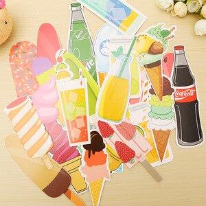 30 шт./лот, милый каваи, газированная бумага для мороженого, в подарок, канцелярская пленка, держатель для книг, карта для сообщений, школьные принадлежности