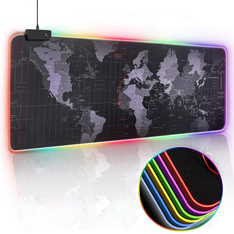 Desk-Mat Mouse-Pad Keyboard Gamer Computer Led-Backlight Xxl-Surface Large RGB Big