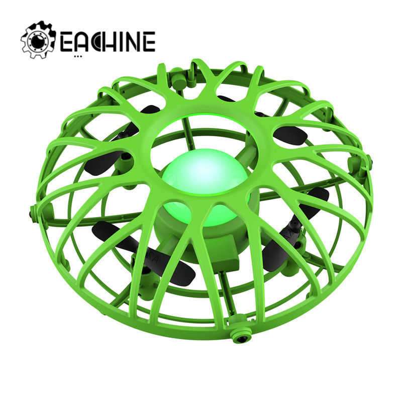 Eachine E111 Mini Drone UFO Infrared Sensing Control Hand Aircraft Quadcopter Infraed Induction Intlligent Blue/Green RC Kid Toy