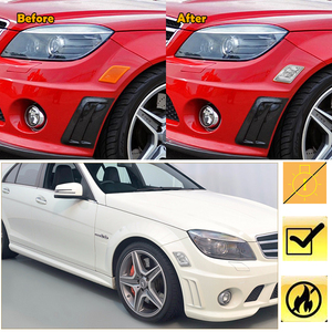 Image 4 - 2 PCS CLEAR เลนส์ด้านหน้าด้านข้างตัวเรือนสำหรับ 2008 2011 Mercedes Benz W204 C Class C300 / C350 / C63 AMG รถอุปกรณ์เสริม
