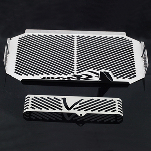 Image 5 - Radiator Grille Guard Cover Cap Protector For SUZUKI DL650 DL 650 V Strom VStrom 2004 2010 09 Oil Cooler Protection Covers Caps