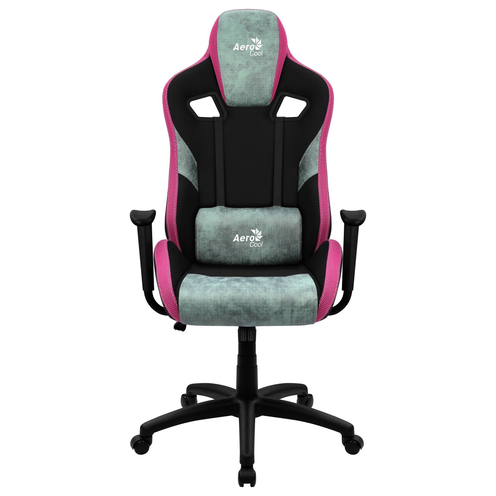 Aerocool COUNT, Gaming Chair, AeroSuede Breathable, Backstop Adjustable, Green
