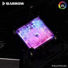 Barrow CPU Block For Intel and AMD Platform Icicle Series Pom or Barss Top Optional LRC 2.0 5v 3pin Microwaterway Cpu Cooler