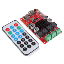 TPA3116 2X50W Stereo TF Cards Dual Channel Lightweight Amplifier Board Bluetooth USB Interface With Remote Control Integrated(China)