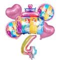 1 комплект диснеевской принцессы торт воздушный шарик из фольги в форме 32 дюймов номер на день рождения вечерние украшения Globos Baby Shower, игруш...