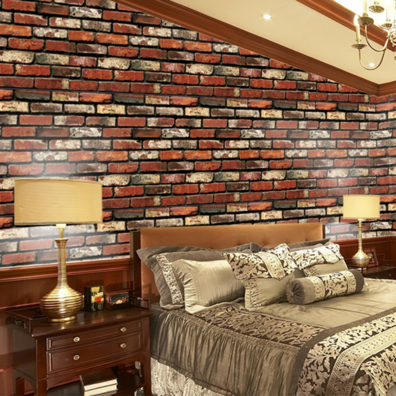 45CMx10M Faux Brick Printed Waterproof Wallpaper Peel Stick Decorative Self-Adhesive Wallpaper Removable Easily Stick Paper