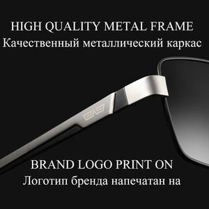Image 3 - CAPONI מותג מקוטב גברים יום נהיגה כיכר משקפי שמש קלאסי מתכת אנטי השתקפות גוונים עבור זכר UV400 CP031