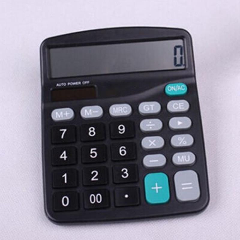 Home Calculator Powered Office Solar/Battery 12-Digit Calculator Screen Buttons Desktop Useful New Parts Hot Sale