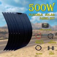 500 Watt solar panel kit complete 500w 600W 700W 800W 1000w flexible for 12V 24V battery car RV home Power charging