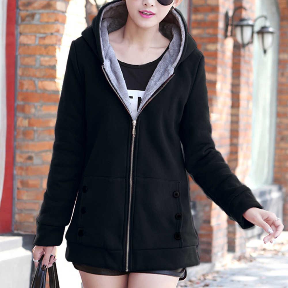 女性のファッション秋冬厚みのスポーツ綿のコートの女性付き暖かいジャケットアウター女性パッド入りパーカーオーバー