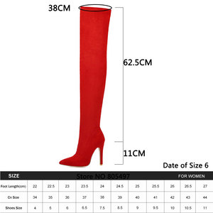 Image 5 - Brand New womens shoes woman Plus Large big size 32 48 over the knee boots thin high heel sexy Party Boots botas de mujer 2020