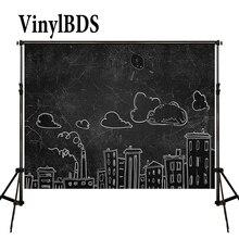 цена на VinylBDS Cartoon Backgrounds Black Brief Strokes Photography Backdrop Children Daily Backdrops for Newborn Photo Studio
