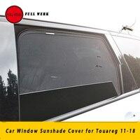 Malha interior do carro frente traseira lateral janela pára sol capa para touareg 11 18 traseiro windshield sun visor capa acessórios|Toldos p/ janela lateral| |  -