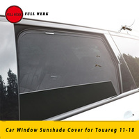 Mesh Car Interior Front Rear Side Window Sunshade Cover for Touareg 11 18 Rear Windshield Sun Visor Cover Accessories