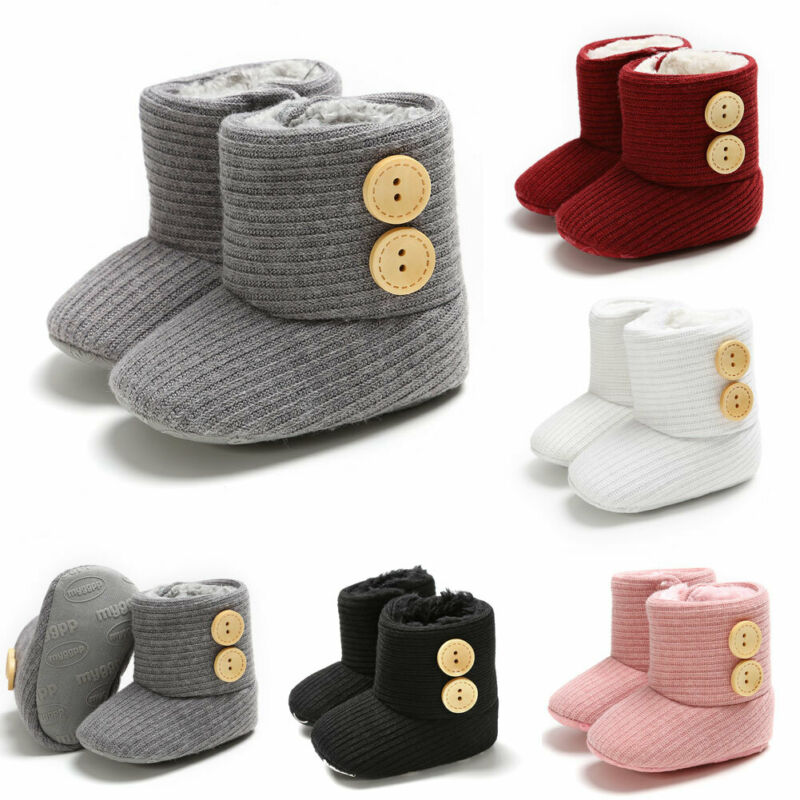 Newborn Baby Boots Unisex Kids Winter Crib Shoes Infant Toddler Snow Boots Booties Winter Warm Anti-slip Boys Girls Shoes
