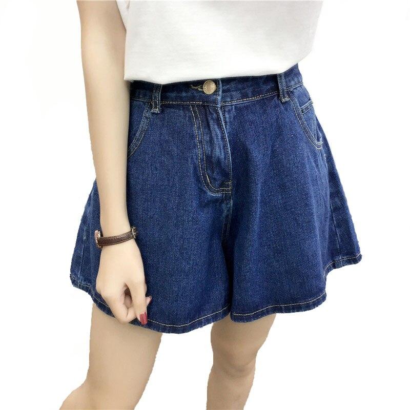 Women's Denim Shorts High Waist Ladies Casual Loose  Black Blue Summer Fashion Female Plus Size Wide Leg Jeans