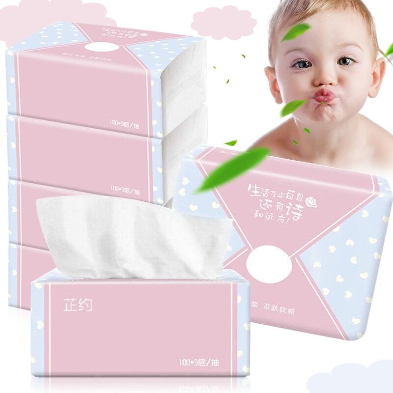4 Packs 3-Ply Facial Tissue 300 Tissues Per Packs 1200 Tissues Total Soft For Bathroom New TT@88