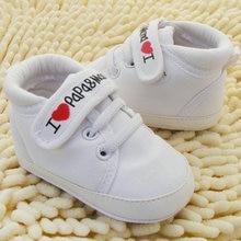 Newborn Baby Shoes I Love PaPa&MaMa Letter Printed Crib
