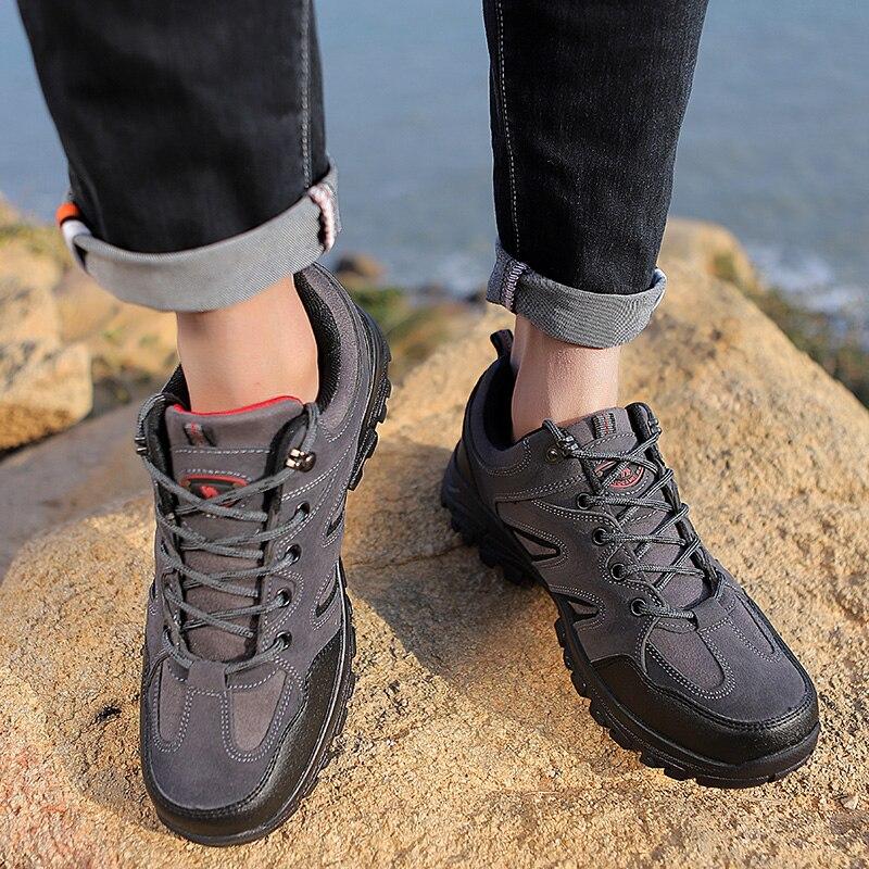 2020 Wasserdichte Mens Wandern Schuhe Bergsteigen Schuhe Outdoor Sport Schuhe Männer Nicht-slip Trekking Sneaker Männer Jagd Trekking