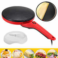 Delle famiglie Non-Stick Crepe Maker Pan Pancake Elettrica Torta Macchina Per Friggere Piastra Portatile Da Cucina Strumenti di Cottura 220V 600W