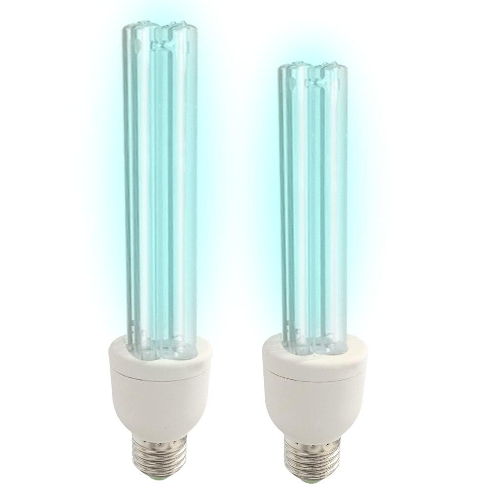 2020 Newest Quartz Lamp 110V 220V 15/25W UV Germicidal Light Led UVC Light Bulb E27 Germicidal Lamp Killing Virus Mite Bacteria