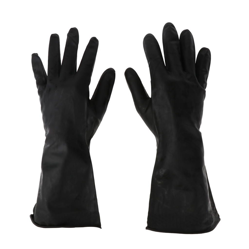 Pair Of Reusable Waterproof Household Gloves For Home Kitchen Dish Washing Laundry Cleaning