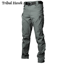 IX9ผู้ชายกางเกงยุทธวิธีทหารกองทัพยืดยืดหยุ่นกางเกงSWAT Man City Multiกระเป๋าผ้าฝ้ายทำงานลำลองกางเกงXXXL