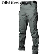 IX9 мужские тактические брюки военные армейские эластичные брюки карго SWAT Man City с несколькими карманами хлопковые рабочие повседневные брюки XXXL