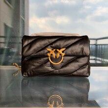 Sac enveloppe en cuir véritable classique de marque de luxe, sac à bandoulière à rabat avec chaîne, pack d'oreiller souple, 2021