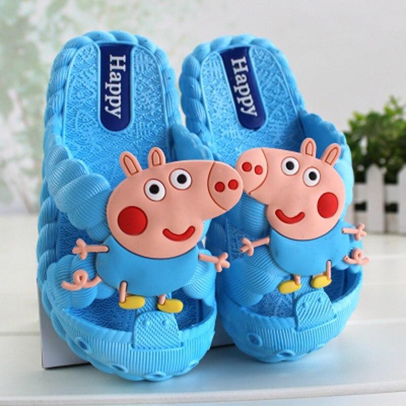 Original Peppa Pig Children Casual Shoes Summer Girls Boys Children Indoor Antiskid Baby Shoes