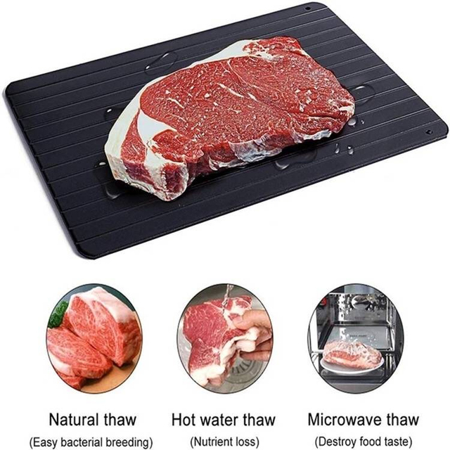 Fast Defrosting Aluminium Tray Thaw Frozen Food Meat Fruit Quick Defrosting Plate Board Defrost Kitchen Gadget Tool Defroster