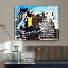 Joker Portrait Canvas Painting Poster Print Nordic Scandinavian Wall Art Picture For Living Room Home Decor Frameless