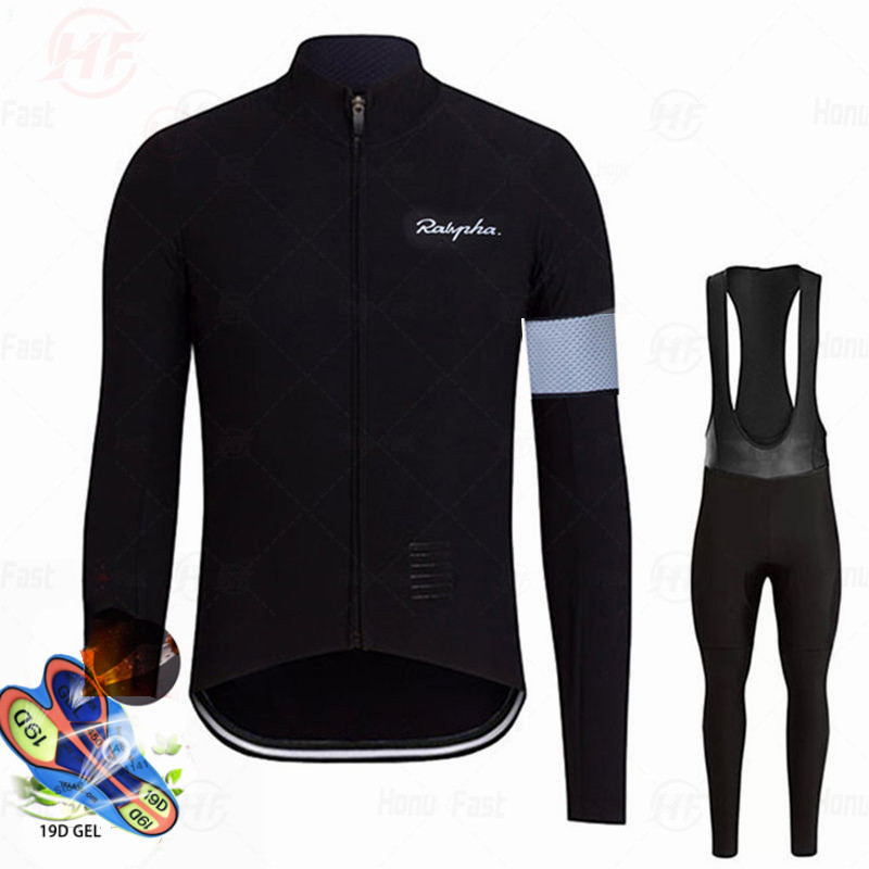 Raphaful Pro 2020 Team Breathable Cycling Clothes Set Long Sleeve Summer Jersey Men Suit Outdoor Sportful Bike MTB Clothing