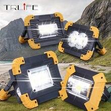 Lanterna led portátil 4000lm, luz de trabalho, recarregável, bateria 18650, para áreas externas, para caça, acampamento